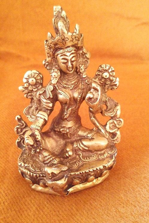 Statuette Bouddha Tara Verte 9,5 cm