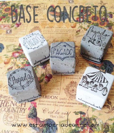 sellos en base de concreto