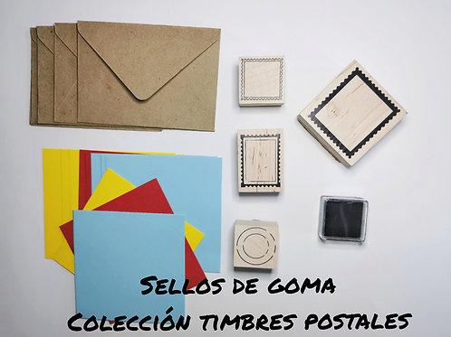 Colección sellos goma timbres postales