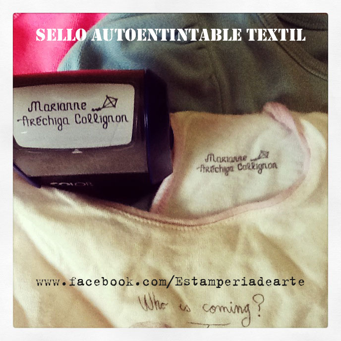 sello autoentitable textil