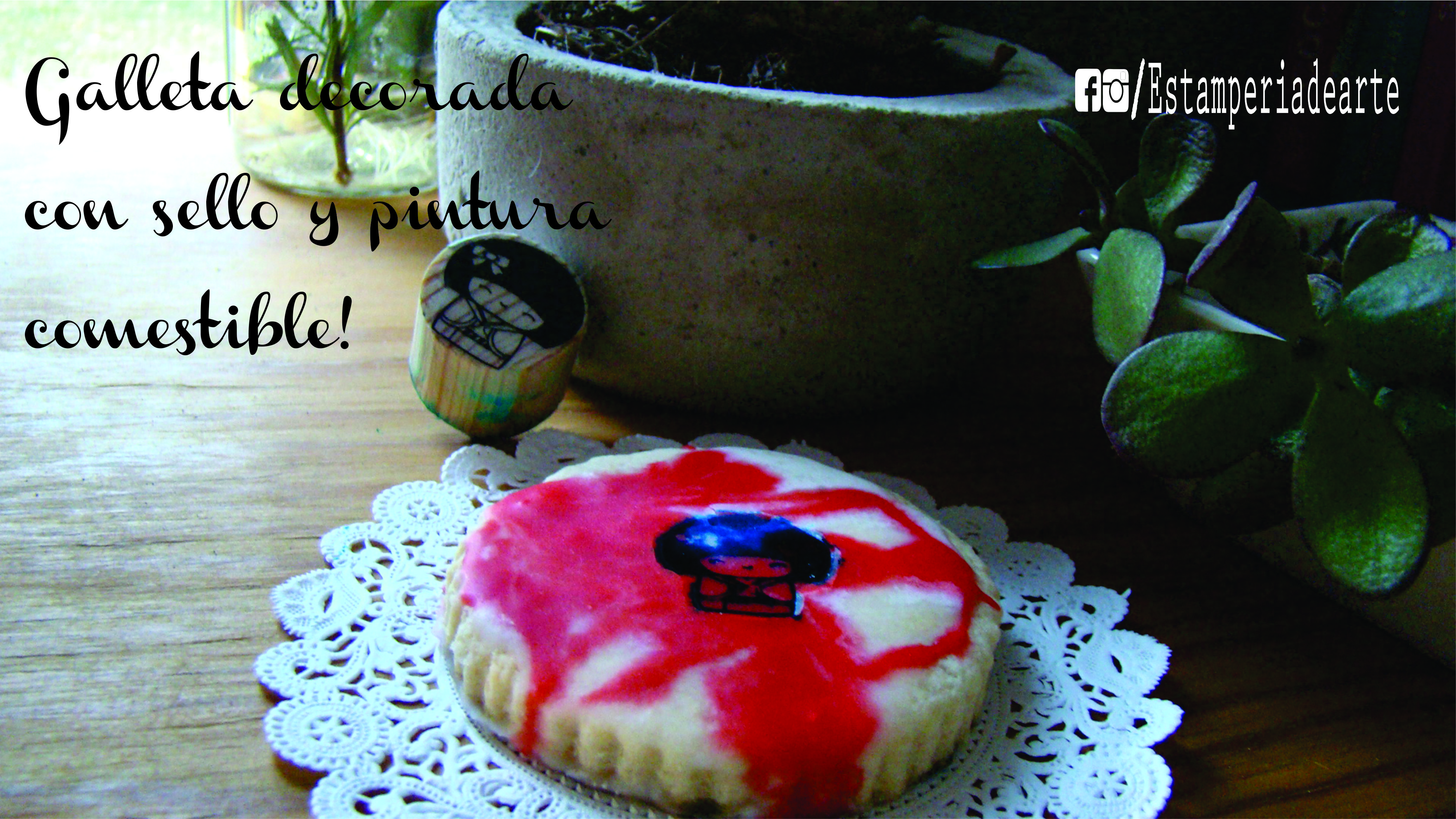 galleta decorada con sello