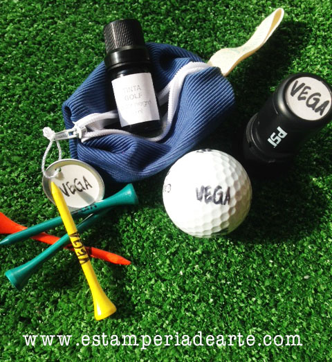tees y sello golf