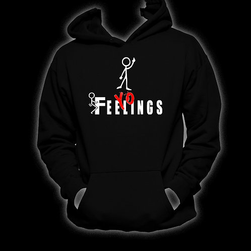 "Black ""F+++ Yo Feelings!"" (Red ""Yo"") Hoodie"