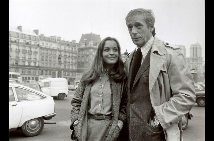 Romy Schneider et Yves Montand