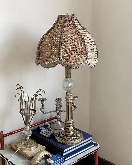 Wicker Colonial Lamp
