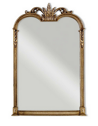 CHAMPAGNE ANTIQUED GESSO MIRROR