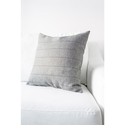 Gray + Black Stripe Pillow