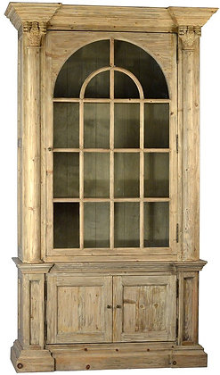 html_winterberry-lane | Reclaimed Pine Cathedral Arched Cabinet