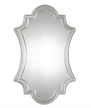 Curvaceous Silver Leaf Mirror