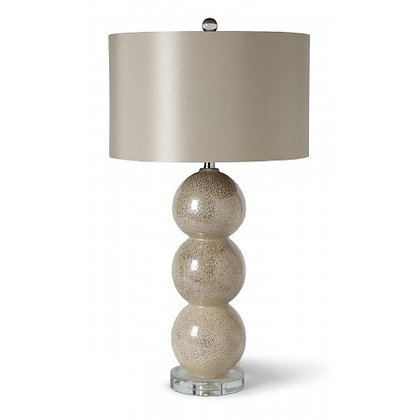 Stacked Sphere Mercury Glass Lamp