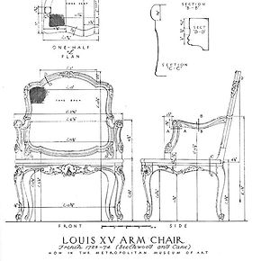 Bergere Chair, Sketch, Schematic, Furniture, Traditional Furniture, French Chair, French Furniture