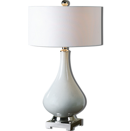 Ivory Ceramic Speckled Lamp