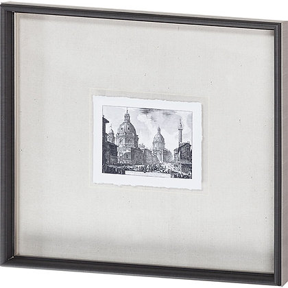 Italian Architectural Print II, Hand Detailed