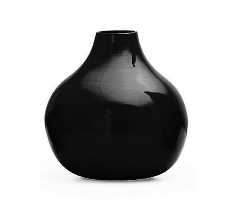High Gloss Black Vase (Lg)