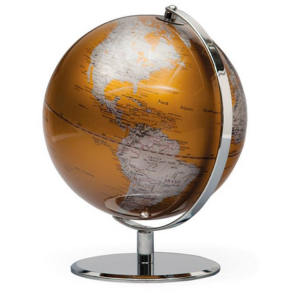 Gold Globe on Metal Stand