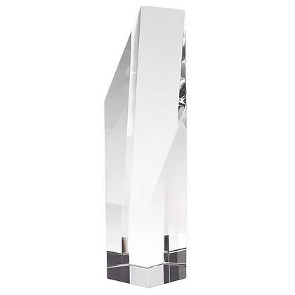"Hand-Made Cut Crystal Slant Tower 10"""
