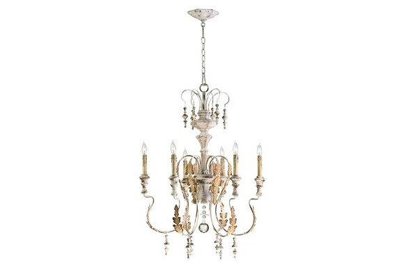 French Inspired Iron Chandelier (6-Light)