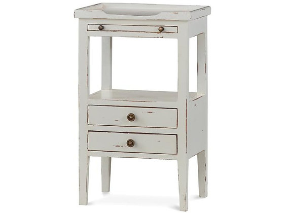 White Rustic Side / End Table