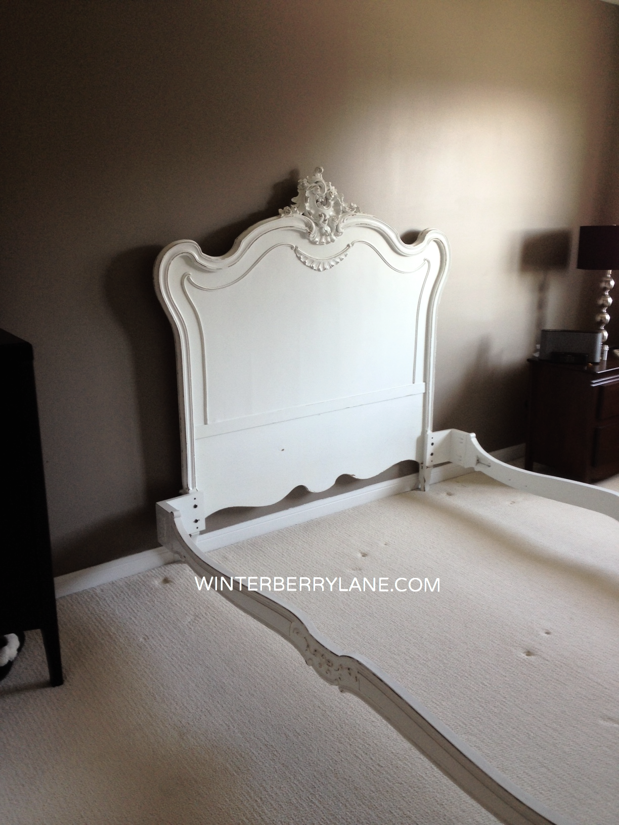 ANTIQUE FRENCH WALNUT BEDFRAME II