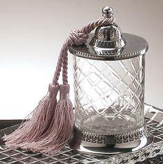 Crystal Jar / Candle Holder + Tassel