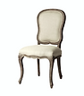 FRENCH DINING CHAIR PROVENCE PROVINCIAL LINEN NEUTRAL