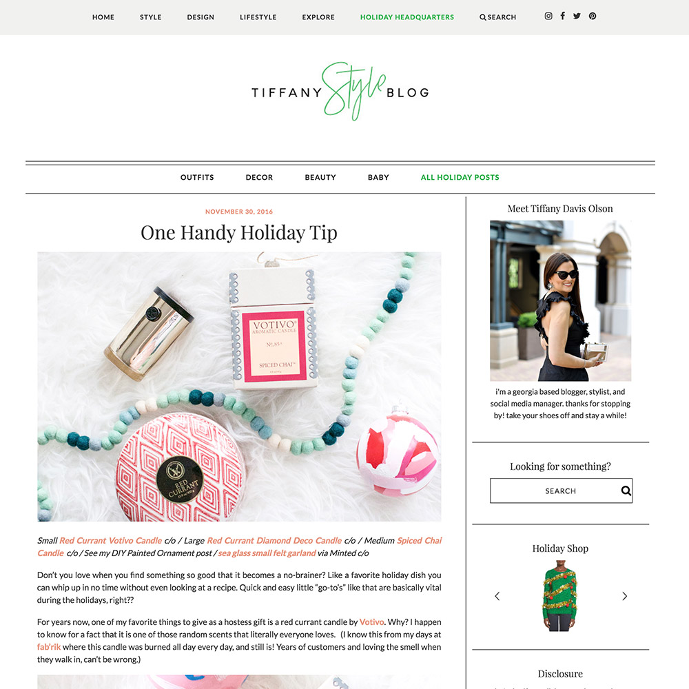 Tiffany Style Blog