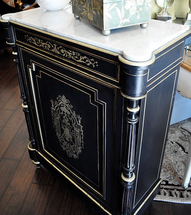 Antique Marble-Top Console Chest