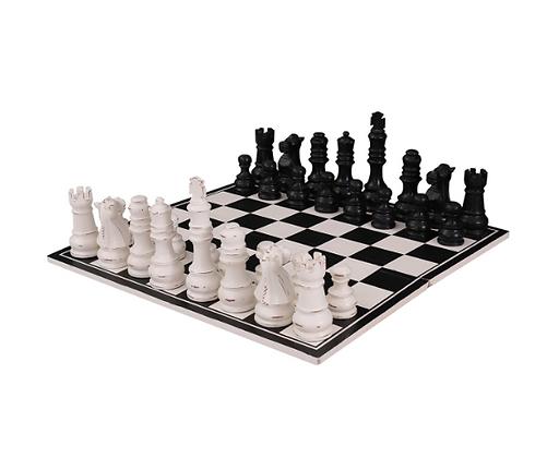 Oversized Wood Chess Set