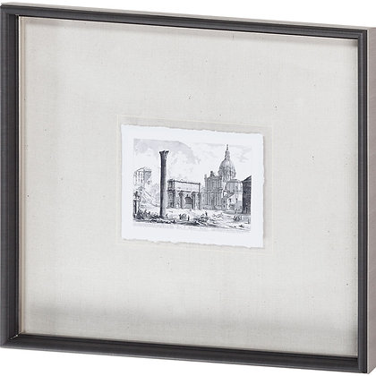 Italian Architectural Print I, Hand Detailed