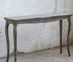 SOLID MAHOGANY CONSOLE TABLE