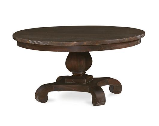 Mahogany Round Cocktail Table