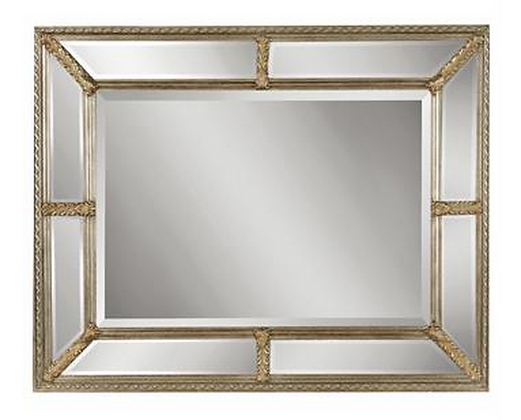 CHAMPAGNE RECTANGLE MIRROR - 9 BEVELLED MIRRORS!
