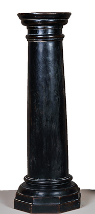 Black Distressed Wood Column