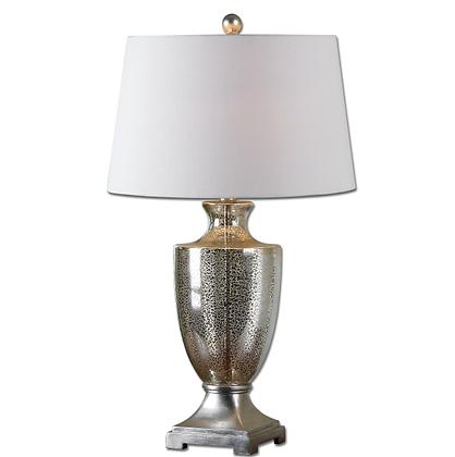 Silver Leaf Mercury Glass Lamp