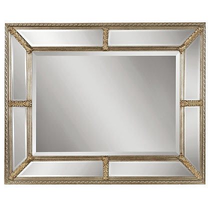 Champagne 9-Panel Beveled Mirror