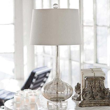 SILVER MERCURY GLASS LAMP