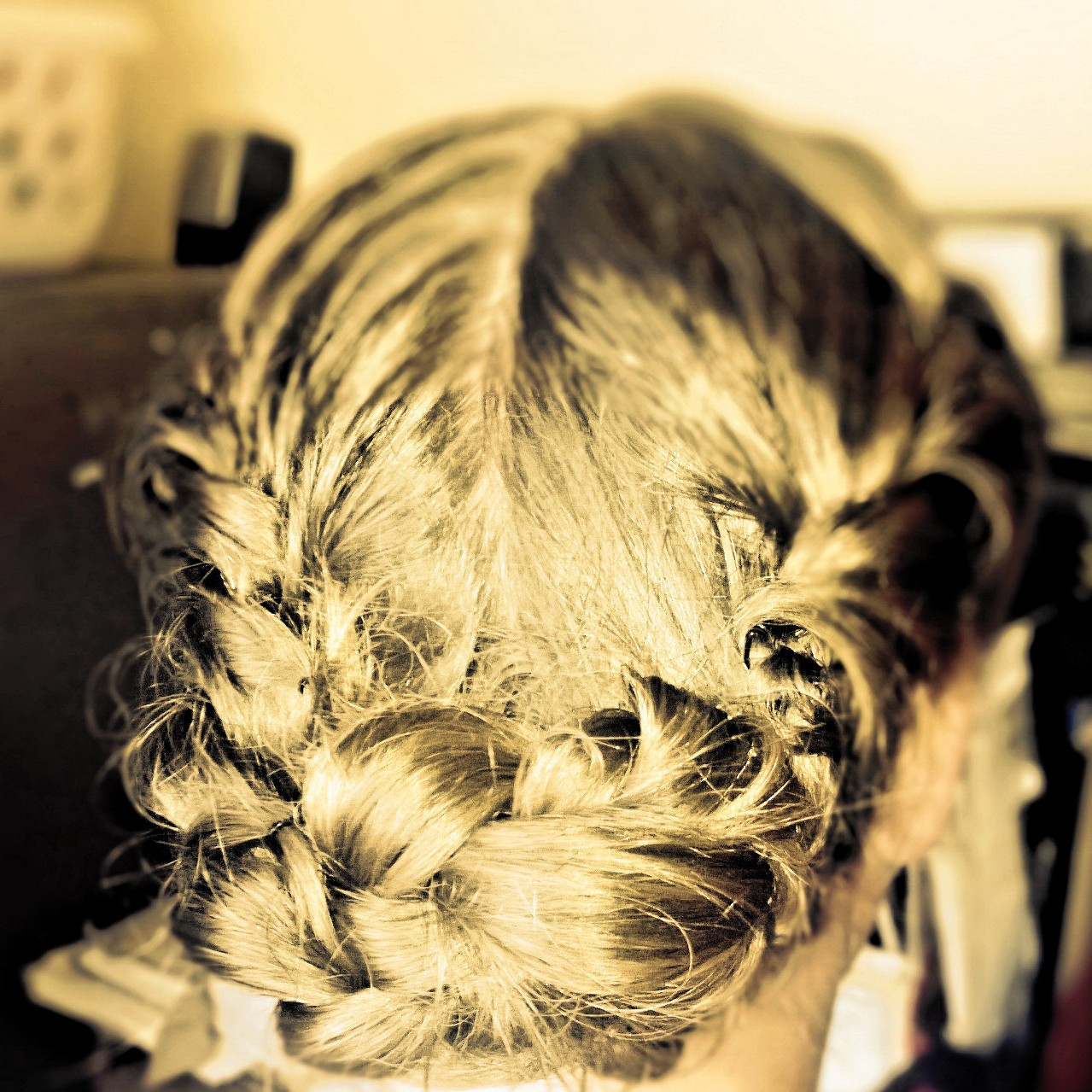 braided bun Omagh Wedding hair