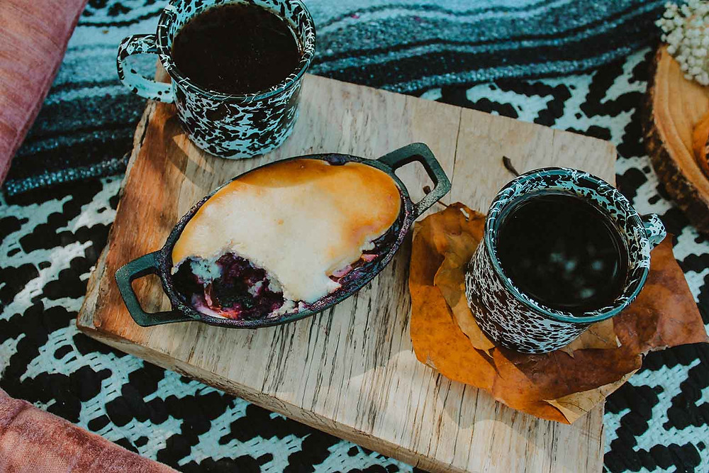 Camping Dessert with Coffee