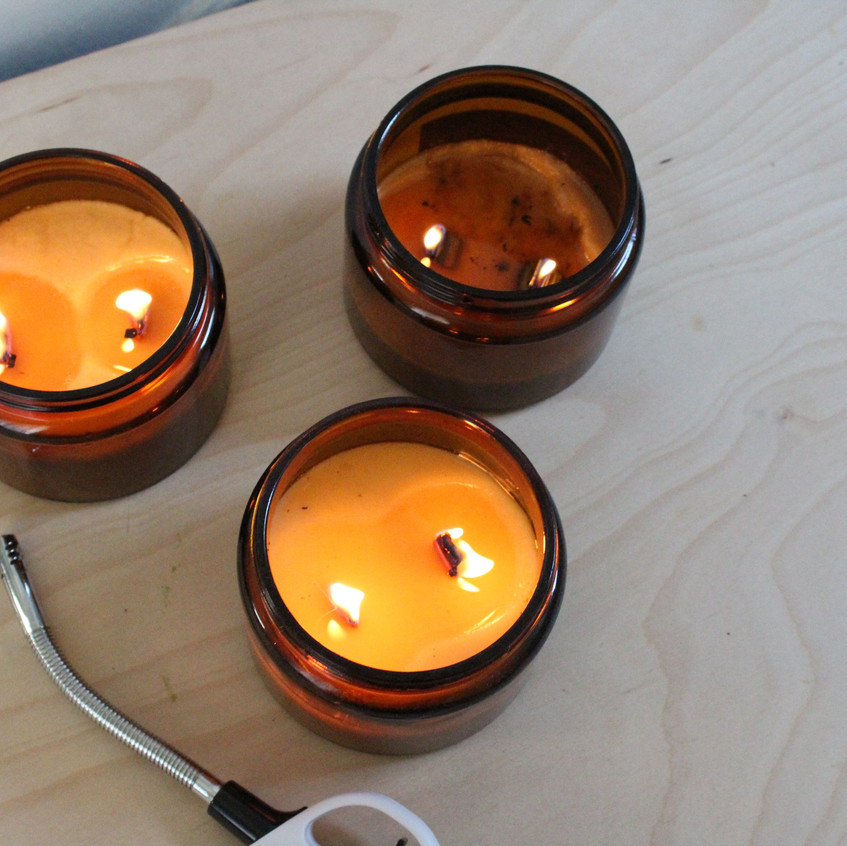 These three candles have suffered humidity, neglect and too much wick trimming,  but they've all been brought back from the grave with a little patience and a lot of love.