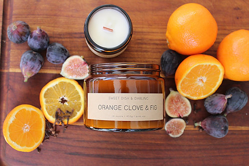 Orange Clove & Fig | Wood Wick Candle