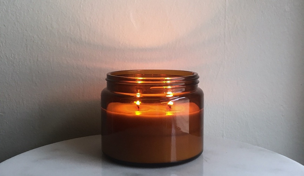 Cleveland Candle, pure soy hand poured with wooden wicks | Sweet Dish & Darling