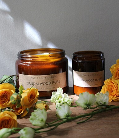Sandalwood Rose | Wood Wick Candle