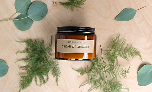 Cedar & Tobacco | Wood Wick Candle