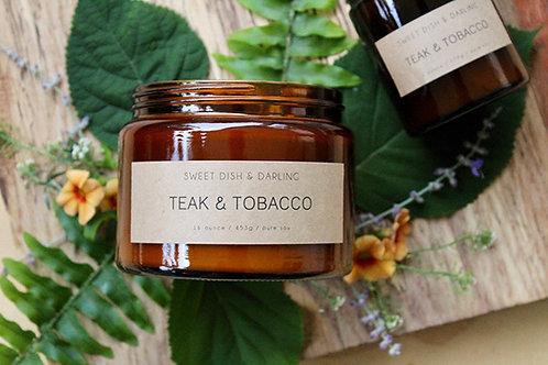 Teak & Tobacco | Wood Wick Candle