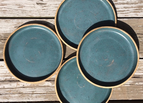 Green Teal Plates, Family Set