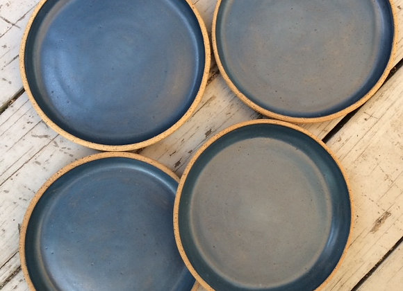 Blue Teal Plates, Family Set