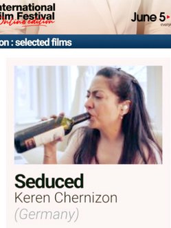 SEDUCED, starring Derya Durmaz, is one of the 2 German films at the International Competition of Très Court Film Festival!