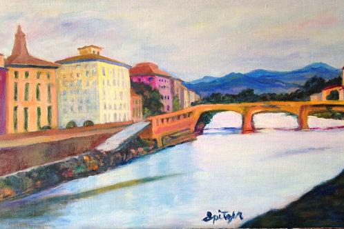 Arno River (framed)