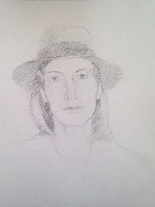 Self Portrait in Fedora