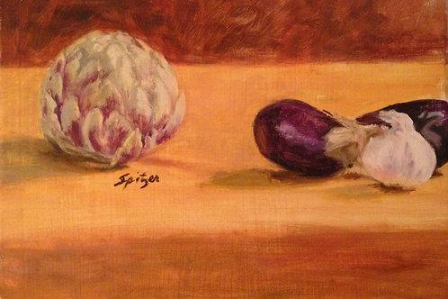 Artichoke, Eggplants and Garlic